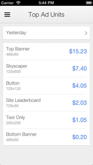 The AdSense app