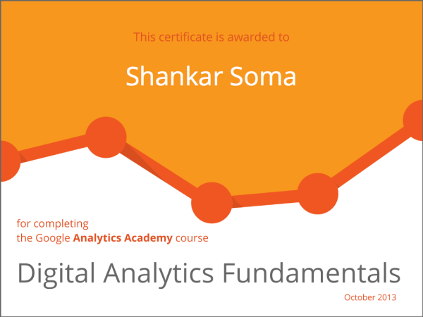 Digital Analytics Fundamentals Certificate