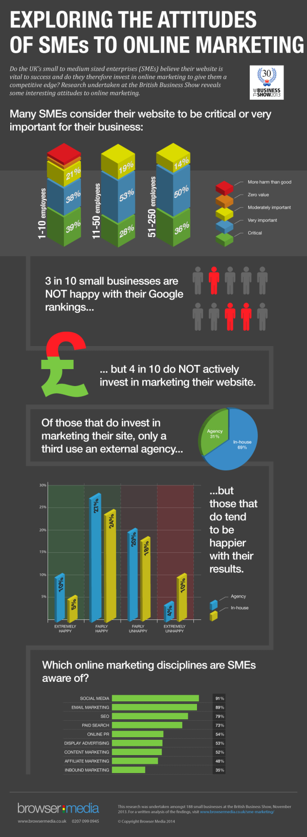 SME Online Marketing Infographic